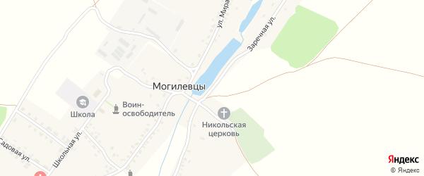 Заречная улица на карте села Могилевцы с номерами домов