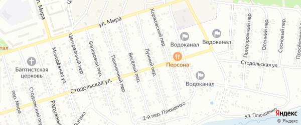 Лунный переулок на карте Клинцов с номерами домов