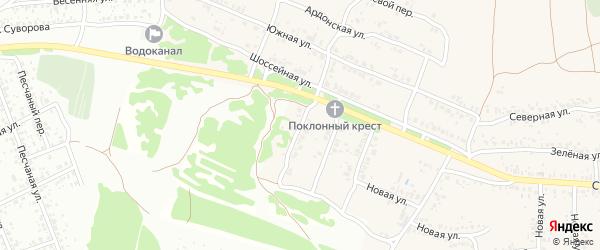 1-й Шоссейный проезд на карте села Ардонь с номерами домов