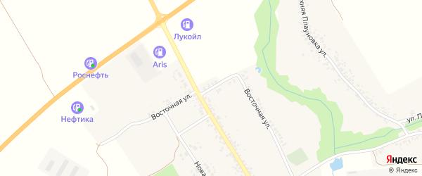 Восточная улица на карте села Смотровой Буды с номерами домов