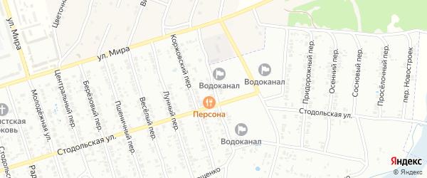 Сухопаровский переулок на карте Клинцов с номерами домов