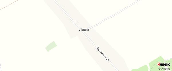 Лядовская улица на карте поселка Ляды с номерами домов