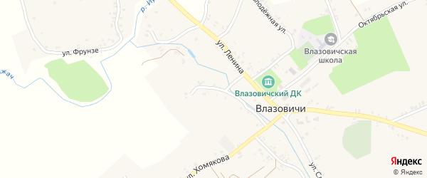 Пролетарская улица на карте села Влазовичей с номерами домов
