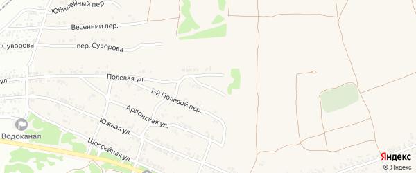 2-й Полевой переулок на карте села Ардонь с номерами домов