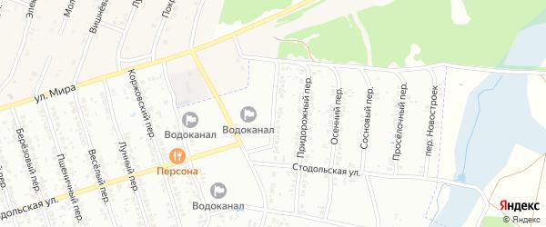 Пригородный переулок на карте Клинцов с номерами домов