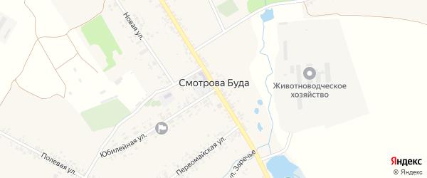 Территория 164 км автодороги Брянск-Новозыбков на карте села Смотровой Буды с номерами домов