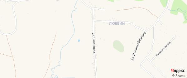 Улица Евлановка на карте села Ардонь с номерами домов
