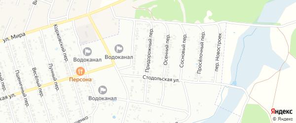 Придорожный переулок на карте Клинцов с номерами домов