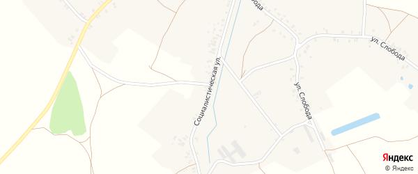 Социалистическая улица на карте села Влазовичей с номерами домов