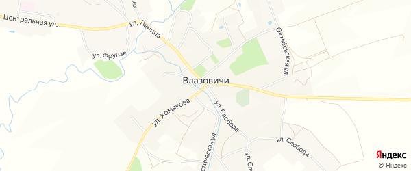 Карта села Влазовичей в Брянской области с улицами и номерами домов