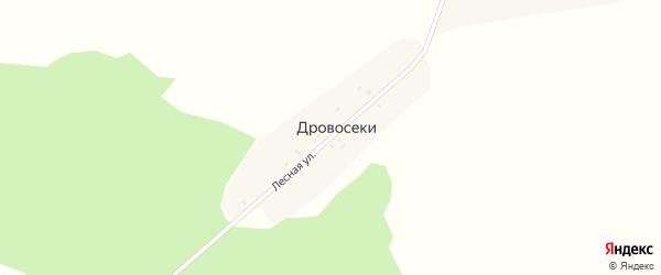 Лесная улица на карте поселка Дровосеки с номерами домов