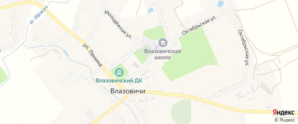 Садовая улица на карте села Влазовичей с номерами домов