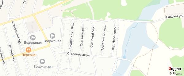Сосновый переулок на карте Клинцов с номерами домов