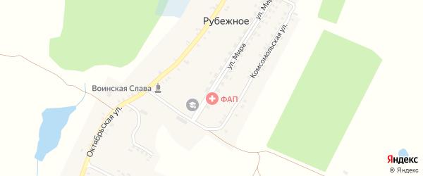 Улица Мира на карте Рубежного села с номерами домов