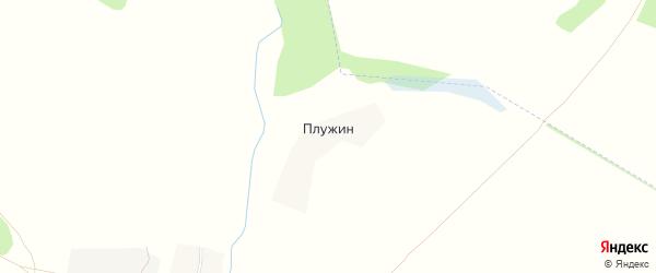Карта поселка Плужина в Брянской области с улицами и номерами домов