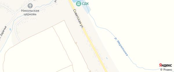 Советская улица на карте села Смотровой Буды с номерами домов