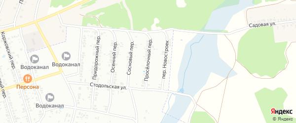 Проселочный переулок на карте Клинцов с номерами домов
