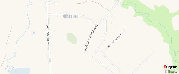 Цветочная улица на карте СТ Южного с номерами домов