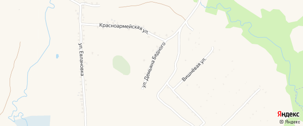 Участок Зеленая на карте СТ Южного с номерами домов