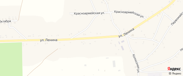 Улица Ленина на карте села Нового Ропска с номерами домов