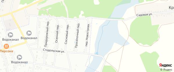 Переулок Новостроек на карте Клинцов с номерами домов