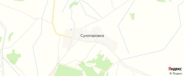 Карта поселка Сухопаровки в Брянской области с улицами и номерами домов