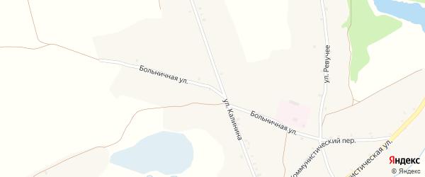 Больничная улица на карте села Нового Ропска с номерами домов