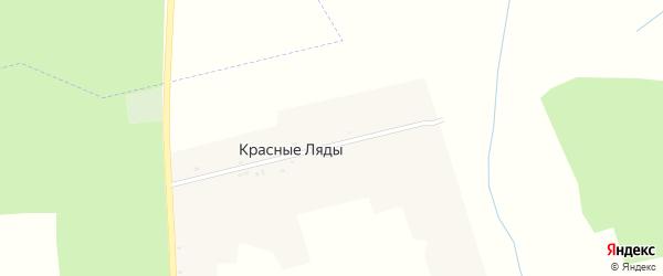 Коммунистическая улица на карте поселка Красные Ляды с номерами домов