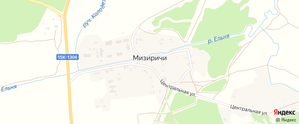 Речная улица на карте СНТ Луча с номерами домов