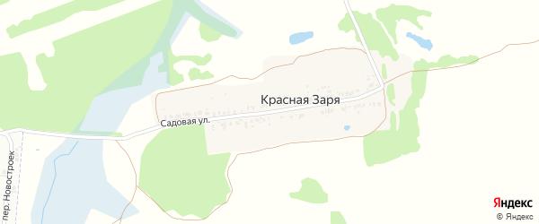Садовая улица на карте поселка Зари с номерами домов
