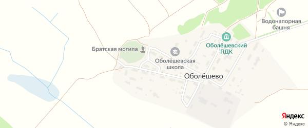 Озерный переулок на карте поселка Оболешево с номерами домов