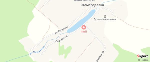 Садовая улица на карте деревни Жемердеевки с номерами домов