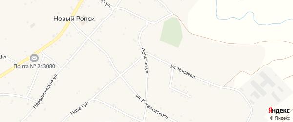 Полевая улица на карте села Нового Ропска с номерами домов