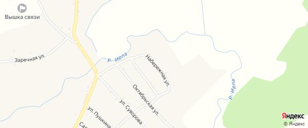 Набережная улица на карте села Нового Ропска с номерами домов
