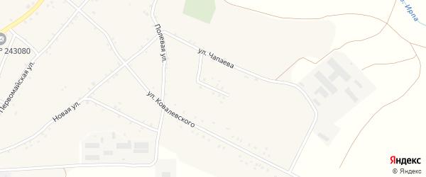 Молодежная улица на карте села Нового Ропска с номерами домов