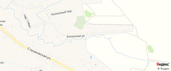Колхозная улица на карте села Ардонь с номерами домов