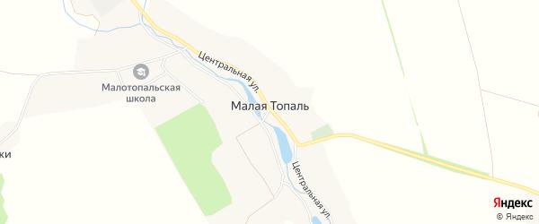 Карта села Малой Топали в Брянской области с улицами и номерами домов