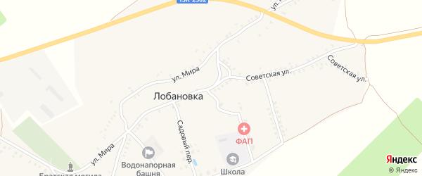 Советская улица на карте села Лобановки с номерами домов