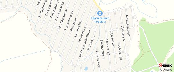 Территория сдт Зеленая роща на карте Новозыбкова с номерами домов