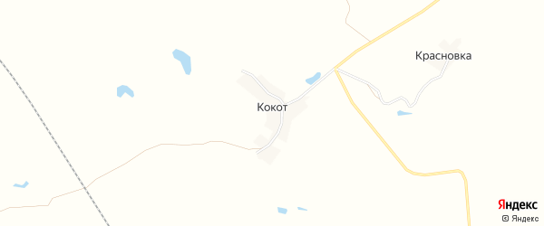 Карта деревни Кокота в Брянской области с улицами и номерами домов