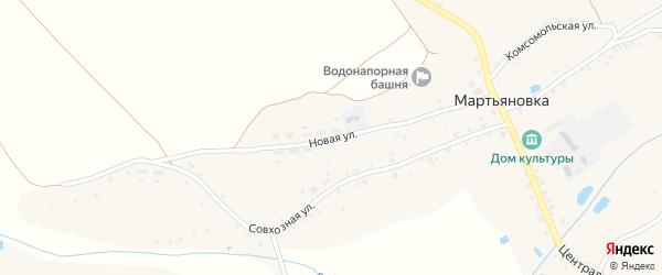 Новая улица на карте села Мартьяновки с номерами домов