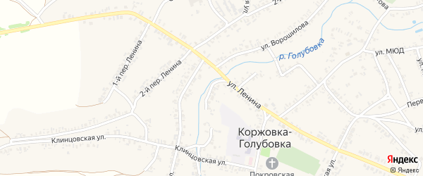 Набережная улица на карте села Коржовки-Голубовки с номерами домов