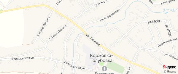 Улица Ленина на карте села Коржовки-Голубовки с номерами домов