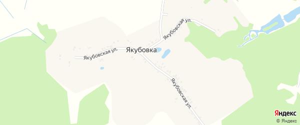 Якубовская улица на карте деревни Якубовки с номерами домов
