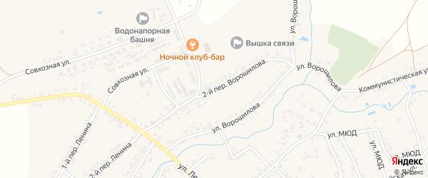 Переулок 2-й Ворошилова на карте села Коржовки-Голубовки с номерами домов