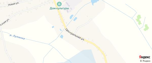 Центральная улица на карте села Мартьяновки с номерами домов
