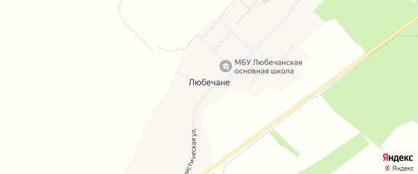 Карта села Любечане в Брянской области с улицами и номерами домов