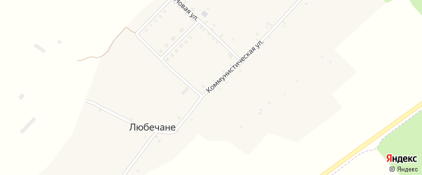 Коммунистическая улица на карте поселка Синявки с номерами домов
