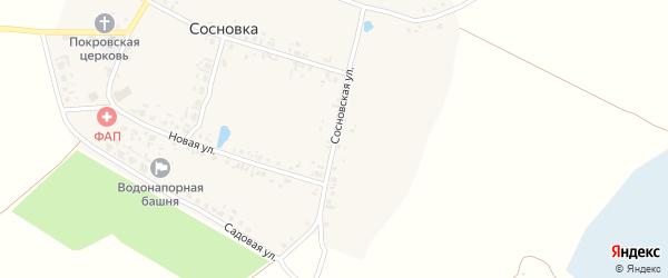 Сосновская улица на карте села Сосновки с номерами домов