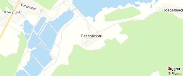 Карта Павловского поселка в Брянской области с улицами и номерами домов